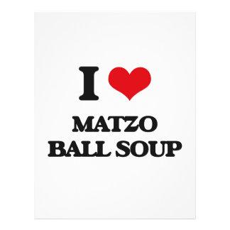 Liebe I Matzo-Ball-Suppe 21,6 X 27,9 Cm Flyer