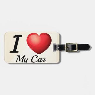 Liebe I mein Auto Kofferanhänger