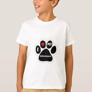 Liebe I mein Bergamasco T-Shirt