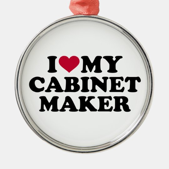 Liebe I mein Cabinetmaker Rundes Silberfarbenes Ornament