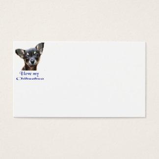 Liebe I mein Chihuahua Visitenkarte