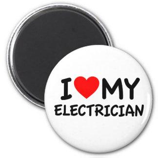 Liebe I mein Elektriker Runder Magnet 5,7 Cm