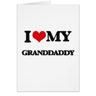 Liebe I mein Granddaddy Grußkarte