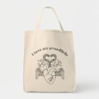 Liebe I mein Grandkidsherz Engel wings Linie Kunst Einkaufstasche