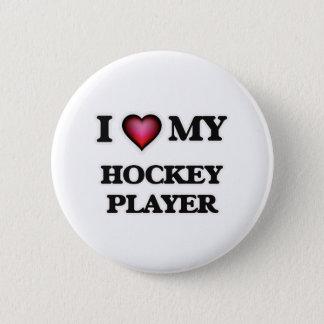 Liebe I mein Hockey-Spieler Runder Button 5,1 Cm