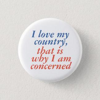 Liebe I mein Land Runder Button 3,2 Cm