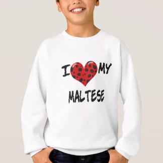 Liebe I mein maltesisches Sweatshirt