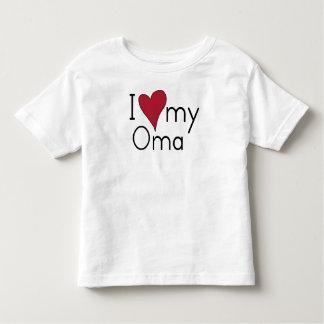 Liebe I mein Oma Kleinkind T-shirt