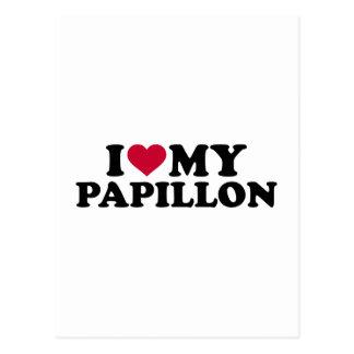 Liebe I mein Papillon Postkarte