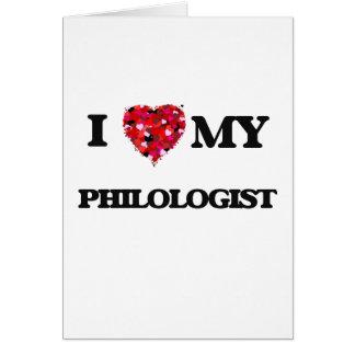 Liebe I mein Philologist Karte