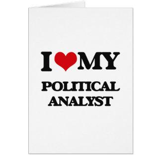 Liebe I mein politischer Analytiker Grußkarten