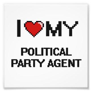 Liebe I mein politischer Party-Agent Kunst Foto
