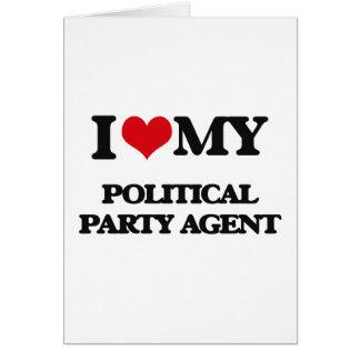 Liebe I mein politischer Party-Agent Grußkarten