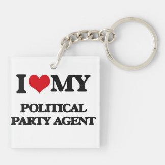 Liebe I mein politischer Party-Agent Schlüsselanhängern
