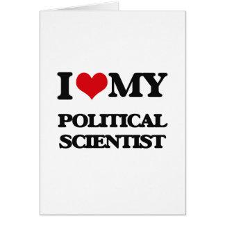 Liebe I mein politischer Wissenschaftler Grußkarten