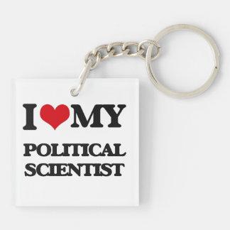 Liebe I mein politischer Wissenschaftler Schlüssel Anhänger