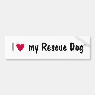 Liebe I mein RettungshundeAutoaufkleber Autoaufkleber