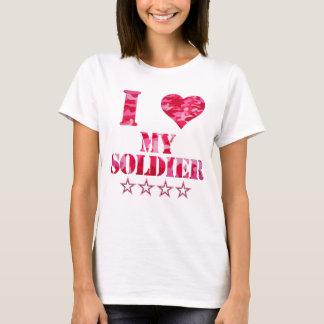 Liebe I mein Soldat, niedliche Tarnung T-Shirt