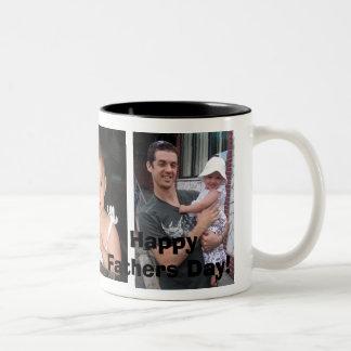Liebe I mein Vati! , Glücklicher Vatertag! Zweifarbige Tasse