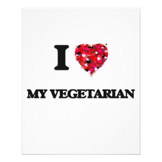 Liebe I mein Vegetarier 11,4 X 14,2 Cm Flyer