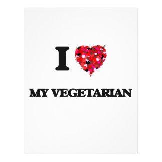Liebe I mein Vegetarier 21,6 X 27,9 Cm Flyer