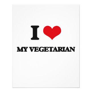 Liebe I mein Vegetarier Bedruckte Flyer
