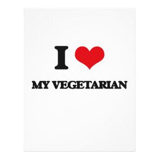 Liebe I mein Vegetarier Flyerbedruckung