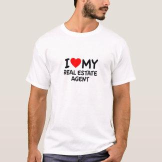 Liebe I mein wirklicher Anwesen-Agent T-Shirt