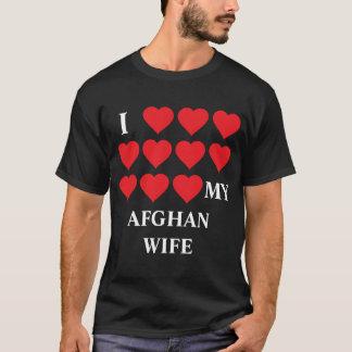 Liebe I meine afghanische Ehefrau T-Shirt
