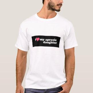 Liebe I meine Apraxic Tochter T-Shirt