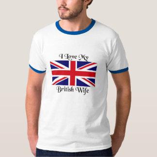 Liebe I meine britische Ehefrau T-Shirt