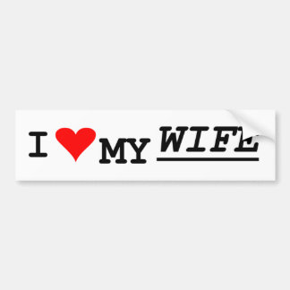 Liebe I meine Ehefrau Autoaufkleber