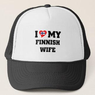 Liebe I meine finnische Ehefrau Truckerkappe