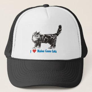 Liebe I meine Maine-Waschbär-Katze Truckerkappe