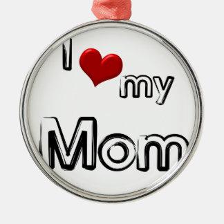 Liebe I meine Mamma Silbernes Ornament