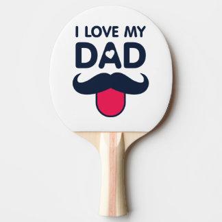 Liebe I meine niedliche Schnurrbartikone des Vatis Tischtennis Schläger