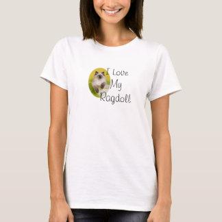 Liebe I meine ragdoll Westespitze T-Shirt