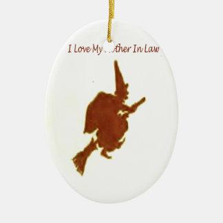Liebe I meine Schwiegermutter Keramik Ornament