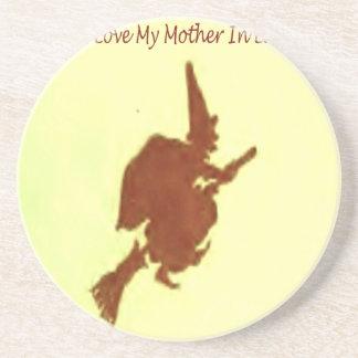 Liebe I meine Schwiegermutter Sandstein Untersetzer