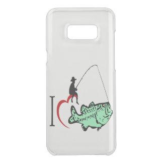 Liebe I mit, einem roten Herzen zu fischen zu Get Uncommon Samsung Galaxy S8 Plus Hülle