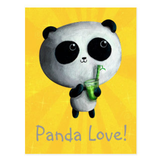 Liebe I niedliche Pandas Postkarte