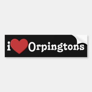 Liebe I Orpingtons Autoaufkleber