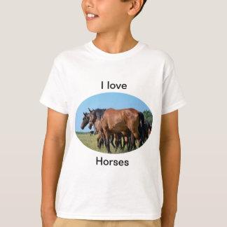 Liebe I Pferdeschönes Bucht-Pferdet-shirt T-Shirt