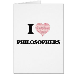 Liebe I Philosophen (Herz gemacht von den Wörtern) Grußkarte