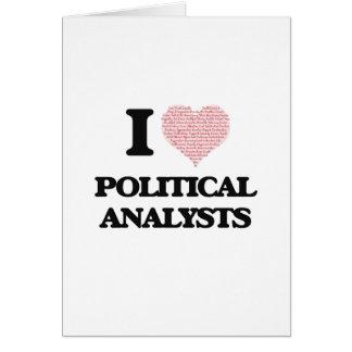 Liebe I politische Analytiker (Herz gemacht von Grußkarte