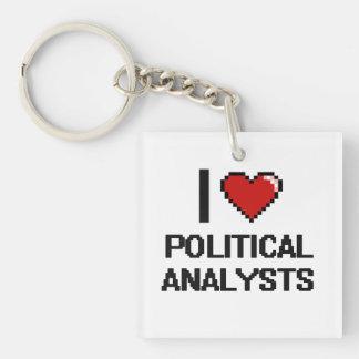 Liebe I politische Analytiker Einseitiger Quadratischer Acryl Schlüsselanhänger
