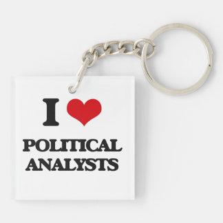 Liebe I politische Analytiker Schlüsselanhängern