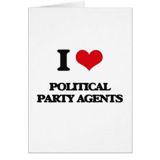 Liebe I politische Party-Agenten Grußkarten