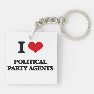 Liebe I politische Party-Agenten Schlüssel Anhänger