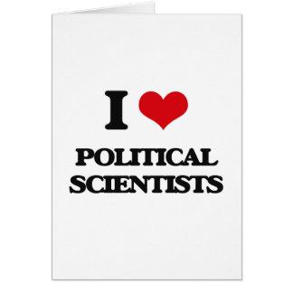 Liebe I politische Wissenschaftler Grußkarten